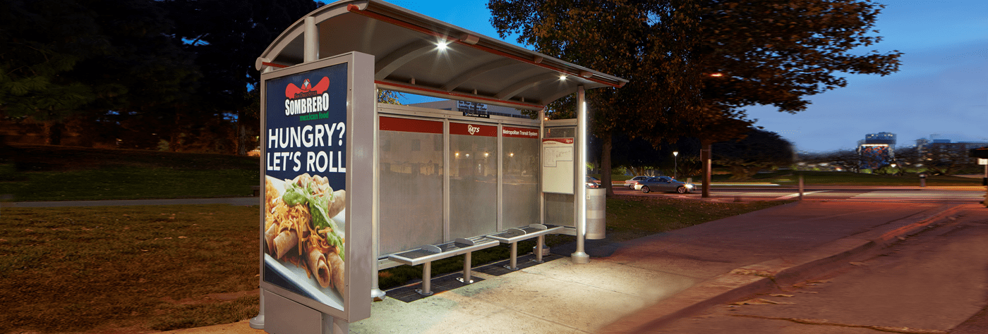 Signature Sunset Bus Shelter in San Diego, CA