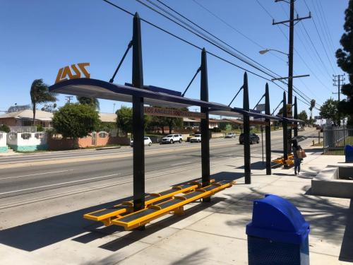 LA Southwest College Transit Shelters built by Tolar Mfg - 2
