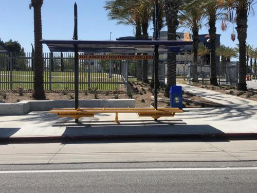 LA Southwest College Transit Shelters built by Tolar Mfg - 4