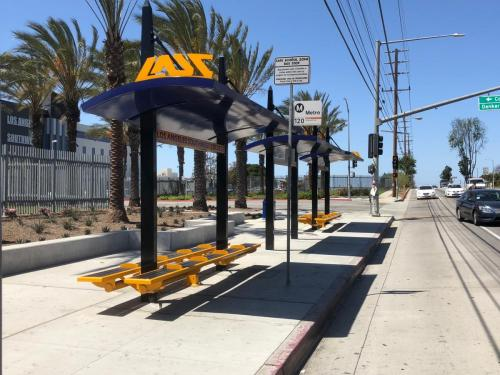 LA Southwest College Transit Shelters built by Tolar Mfg - 6