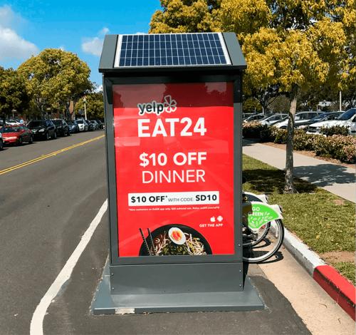 Digital advertising kiosk built by Tolar Mfg - 2
