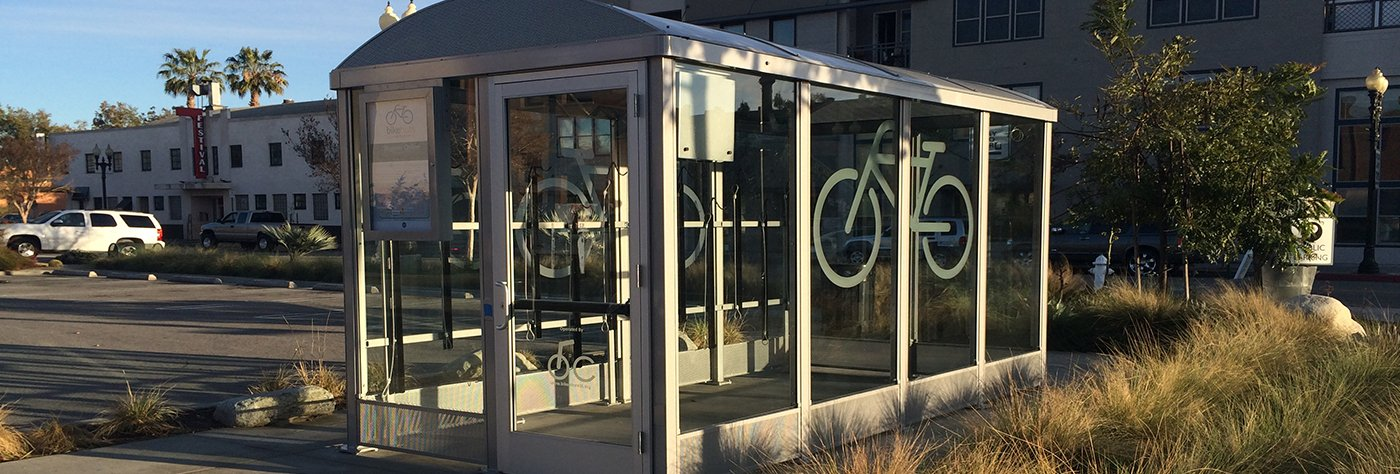 Niagara Fully Enclosed Bicycle Shelter in Santa Ana, CA