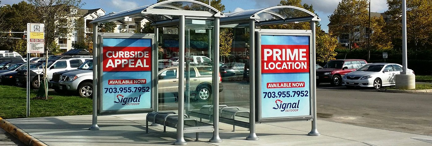 Euro Series Bus Shelter in Tysons Corner, VA