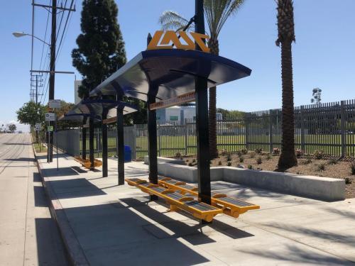 LA Southwest College Transit Shelters built by Tolar Mfg - 1