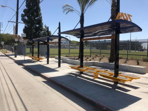 LA Southwest College Transit Shelters built by Tolar Mfg - 3