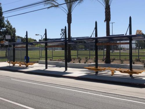 LA Southwest College Transit Shelters built by Tolar Mfg - 5